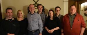 Der neue Vorstand des Gesangverein Hützemerter MundArt: Michael Grütz, Tanja Hardenacke, Oliver Müller, Daniel Grütz, Katja Lütticke, Thomas Grütz, Frank Gipperich (v.l. ; nicht auf dem Bild: Lukas Finke).