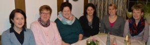 Abteilungsvorstand Turnen und Breitensport (v.l.): Sandra Würde, Abteilungsleiterin Hiltrud Lütticke, Marion Weuste, Sandy Halbfas-Alterauge, Nicole Kristes, Anja Wigger
